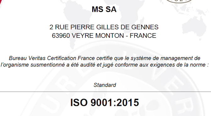 Renouvellement ISO9001